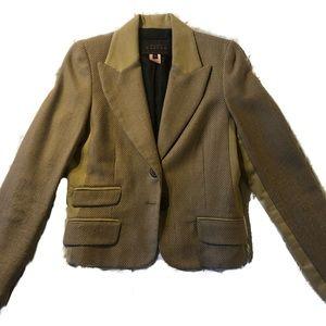 Wool corduroy blazer - size 8 - Pink Tartan